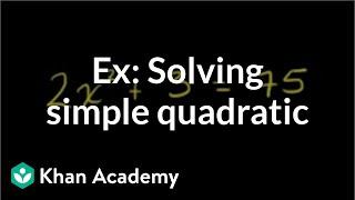 Simple Quadratic Equation