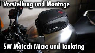 Vorstellung und Montage SW Motech Evo Micro und Evo Tankring Tankrucksack