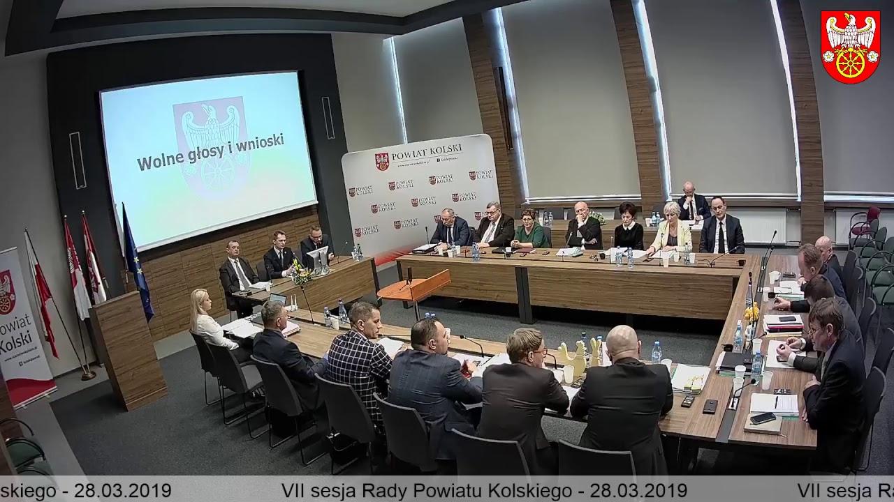 Zdjęcie do VII Sesja Rady Powiatu Kolskiego