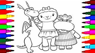 Coloring Pages Doc McStuffins Page L Kids Drawing And Disney Junior Lambie Hallie