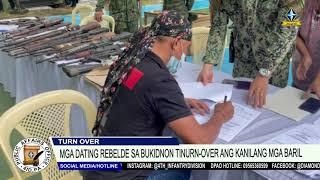 Mga dating rebelde sa Bukidnon tinurn-over ang kanilang mga baril