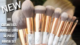 NEW BH Cosmetics Marble Luxe 10 Piece Brush Set