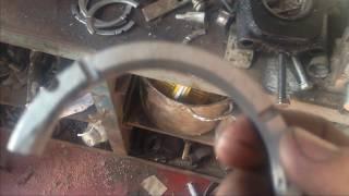 Замена полуколец осевого смещения коленвала двигателя Д-37М (д-144). Без снятия коленвала!