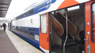 preview picture of video '[Paris] BB27300+VB2N GOCA - Pontoise (Ligne J Transilien)'
