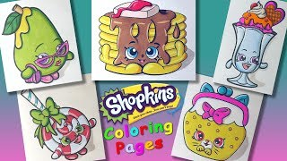 Shopkins characters Part 3 #ColoringPages #forKids #LearnColors and Draw with Shopkins