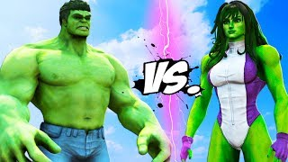 HULK vs She HULK - Epic Battle