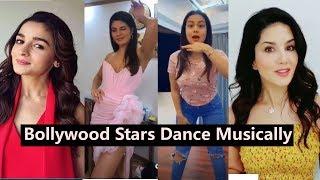 Bollywood Stars Dance on #Tiktok #Musically | Sunny Leone, Alia, Ranveer, Sharaddha, Neha