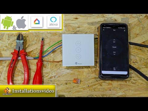 Rolladenschalter über App, Amazon Alexa und Google Home steuerbar / Einbauanleitung