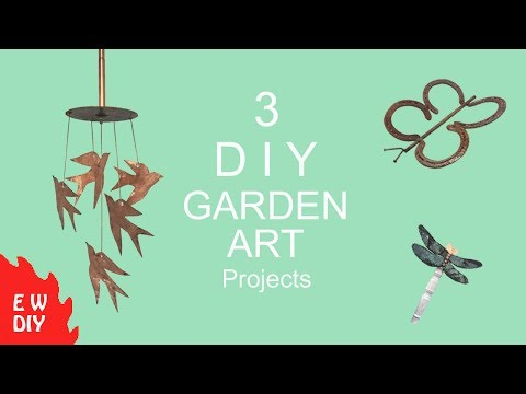 3 DIY Garden Art projects