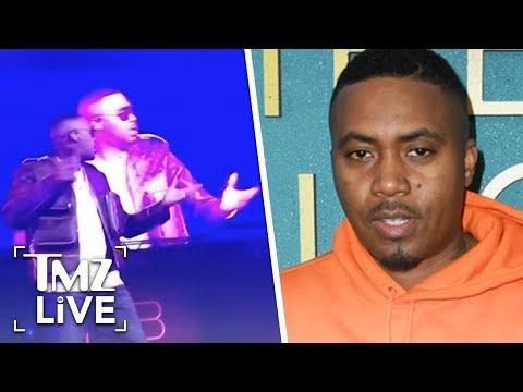 [TMZ]  Nas Performs Through Epic Mic Troubles