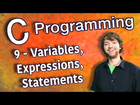 C Programming Tutorial 9 – C Basics Part 1 – Variables, Expressions, Statements