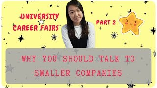 🌟 How To Get A Job At University Career Fairs   TALK TO SMALLER COMPANIES   Part 2 🌟Berkeley CS Grad