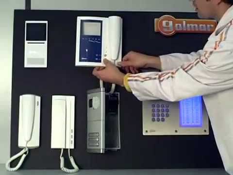 Programación videoportero Platea UNO en placa de pulsadores Golmar