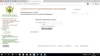 Отчетность НКО в Министерство юстиции