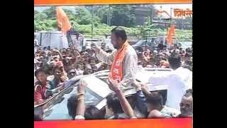 Vijay Chougule with his Shiv Sena followers in full confidence