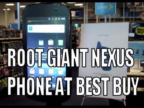 Man Roots Six-Foot Nexus S Display At US Electronics Store