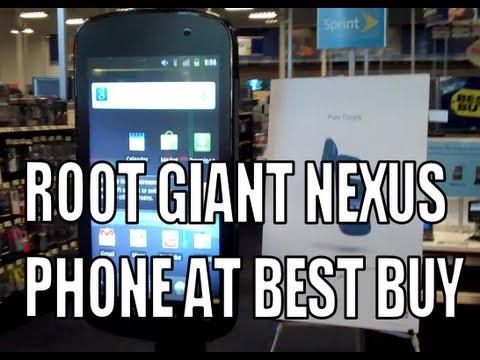 Man Roots Six-Foot Nexus S Display At US Electronics Store