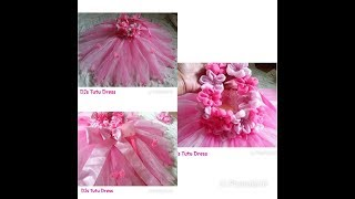 DIY How To Design Tutu Dress W/ Butterflies And Flowers  ☺