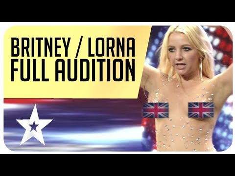 Did Britney Spears really kiss a judge from Britain's Got Talent? Full Audition (видео)