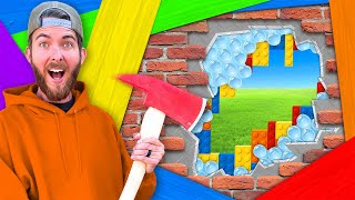 100 Layer Wall w/ 100 DIFFERENT Layers! *UNBREAKABLE CHALLENGE*