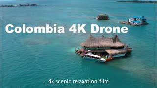 Colombia 4k - Scenic Relaxation Film With Calming piano Music | Colombia fpv