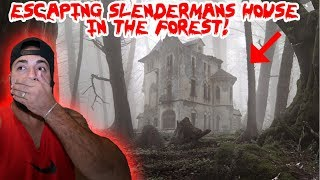 ESCAPING SLENDER MANS HOUSE IN THE WOODS! *I CAUGHT HIM ON CAMERA*   MOE SARGI