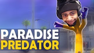 PARADISE PALMS PREDATOR   STEALING CONTENT   FUNNY HIGH KILL GAME -(Fortnite Battle Royale)
