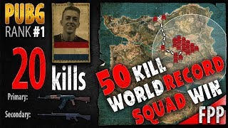 PUBG Rank 1 - 50 kill SQUAD WIN - WORLD RECORD - ibiza w/ tweeday, Mista_TV, Ashek