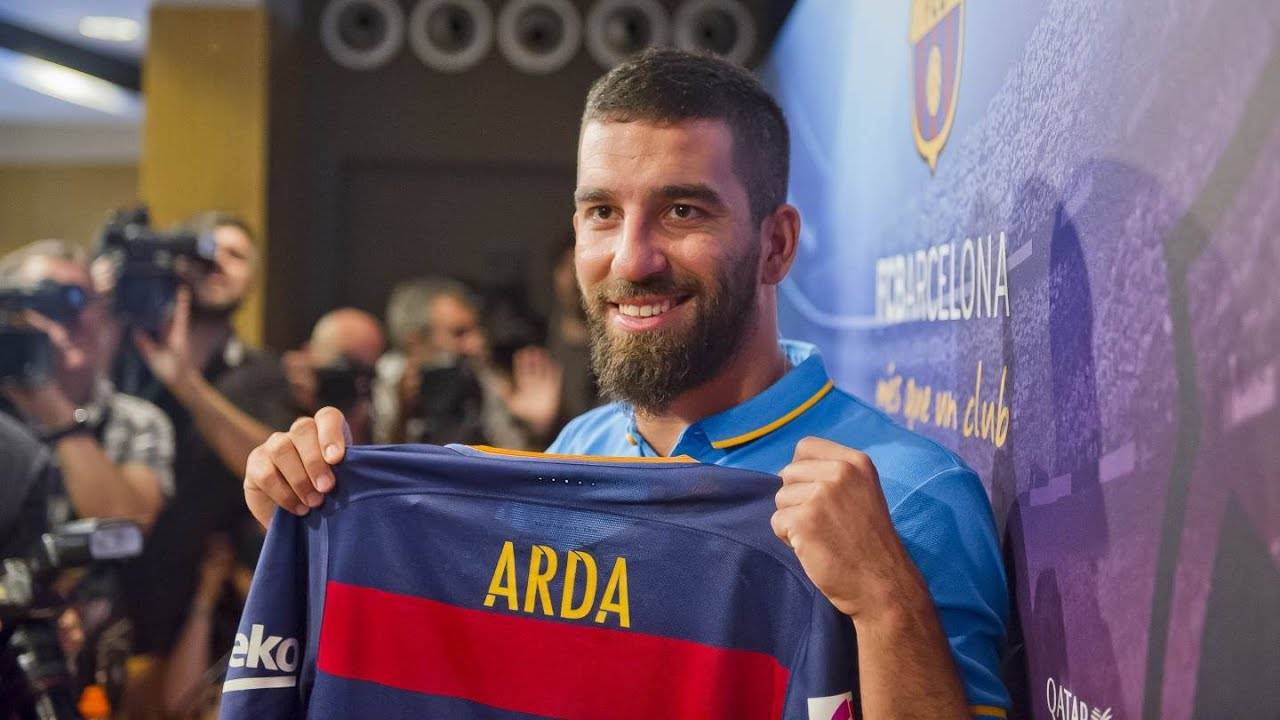 Presentación de Arda Turan como jugador del Barça