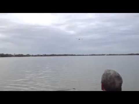 RC Plane Fly Over Water