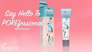 Quickly minimize the appearance of pores & fine lines for smoother-than-smooth skin with POREfessional. Get yours here http://bit.ly/1Rl2Jy5  Subscribe to our channel for more beauty, banter & brows https://www.youtube.com/benefitukroi  Subscribe to our weekly newsletter for the latest product news and gorgeous offers http://bit.ly/2fjtBkJ