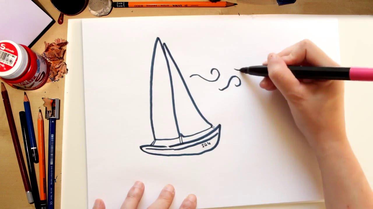 ????????????????Como dibujar un Barco fácil- dibujos de verano