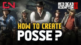 Red Dead Redemption 2 Online - Create Posse / How to Play with Friends