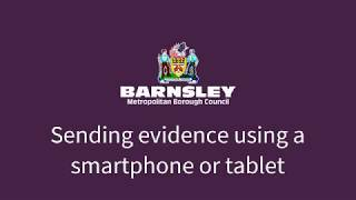 Sending evidence using a smartphone or tablet