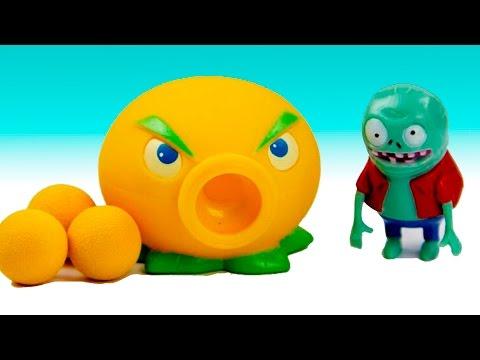 Plants vs Zombies Toys Aliexpress nurse video for kids funny battle on PlayClayTV Garden Warfare PVZ