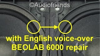 Bang & Olufsen B&O Beolab 6000 Speaker Repair Rubber Surrounds - Voice-over