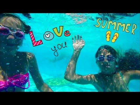 Girls Swimming in the Pool | Summer Fun | Девчонки в