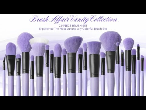 Bộ cọ trang điểm coastal scents 22 cây Brush Affair Vanity Collection in Orchid