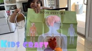 Kids Anatomy Felt Craft . DIY Educational Craft For Kids