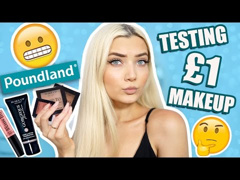 TESTING £1 POUNDLAND MAKEUP! DOES IT WORK? 😱