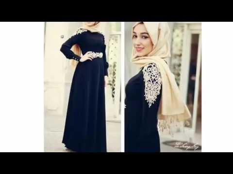 fccadd6eb احدث فساتين محجبات تركية 2016 - 2017 فساتين فساتين سهرة عبايات تركية -  Turkish Dresses Collection