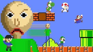 Baldi would be OP in Super Mario Bros. PART 1