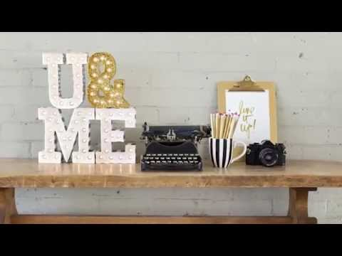 Letra luminosa Led Marquee Love Heidi Swapp - A
