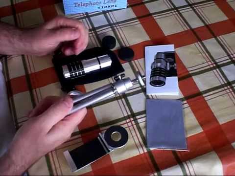 Unboxing and review of universal 12x Telephoto lens for smartphones