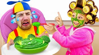 Anita Pretends to be a Parent and Plays with Dad! Pretend Play by Funny Toys Review