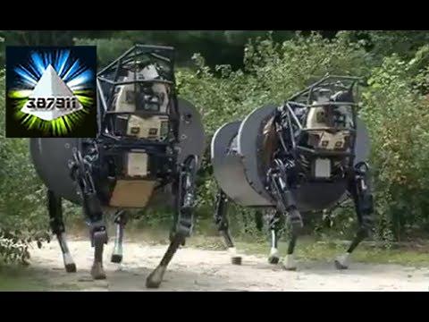 DARPA 🔧 LS3 US Military Robot Running Big Dog Legged Quadruped Support Mule 👽 Autonomous Technology
