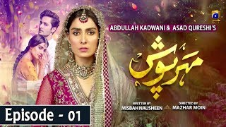 Meherposh - EP 01 || English Subtitles || 3rd April 2020 - HAR PAL GEO  Hailing from a middle class family, Mehru is a simple and kind-hearted girl while Shahjahan is Mehru's next door neighbor who has always been respectful of Mehru and her family. In an unfortunate turn of events Mehru's life is turned upside down when Shahjahan along with his friends casually passes flirtatious remarks for Mehru on her wedding day. Guided by malicious motives of her in-laws, Mehru's husband Noman threatens to divorce her. Guilt-ridden and furious, Shahjahan blames himself for Mehru's condition. As Shahjahan begins to develop feelings for Mehru, will Shahjahan gather the courage to accept his mistakes and will Mehru forgive him? Will the interplay between love and trust bring Shahjahan and Mehru together?  Written by: Misbah Nosheen | Directed by: Mazhar Moin | Produced by: Abdullah Kadwani & Asad Qureshi | Production house: 7TH Sky Entertainment  Cast: Danish Taimoor As Shahjahan Ayeza Khan As Mehru Sania Saeed As Nusrat Ali Abbas As Naeem Rehan Sheikh As Jahanzaib Iffat Rahim As Shakeela Ismat Zaidi As Sakeena Zainab Shabir As Ayaat Humaira Bano As Kaneez Syed Arez As Waqas Mubsirah Khan As Almas  #MeherPoshEP01 #HARPALGEO #Entertainment