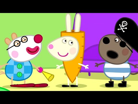 Peppa Pig English Episodes | Peppa Pig Pretend Play Dress Up | Halloween | Peppa Pig Official