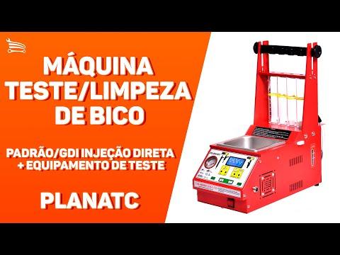 Máquina Limpeza/Teste Injetores Padrão/GDI Display Digital LCD 34 Funções com Estrobo e Cuba 1L + TSPA-300 - Video