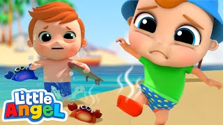 Hot and Cold On The Beach | Opposites Song | Little Angel Kids Songs